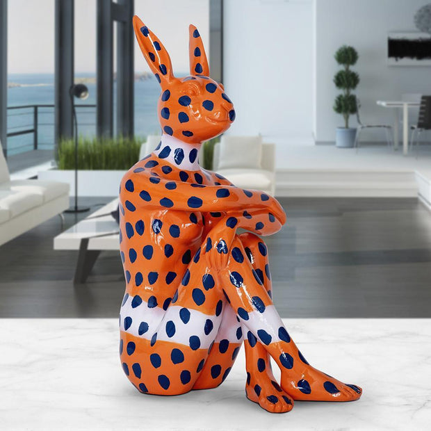 Gillie and Marc - Splash Pop City Bunny (on Orange with Blue Dots)