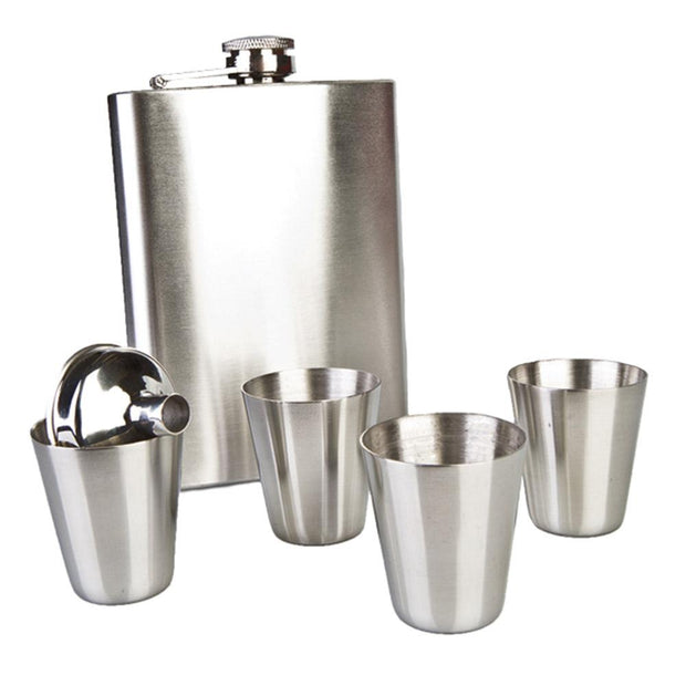 Hip Flask Travel Set