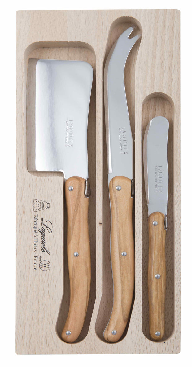 André Verdier - Debutant Cheese Knife Set Wood (3 Pieces)