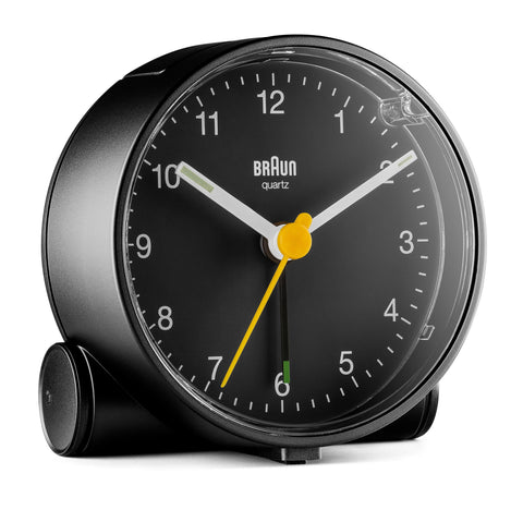 Braun Classic Analogue Alarm Clock (Bc01) - Black