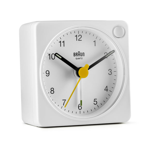 Braun Classic Travel Analogue Alarm Clock (BC02) - White