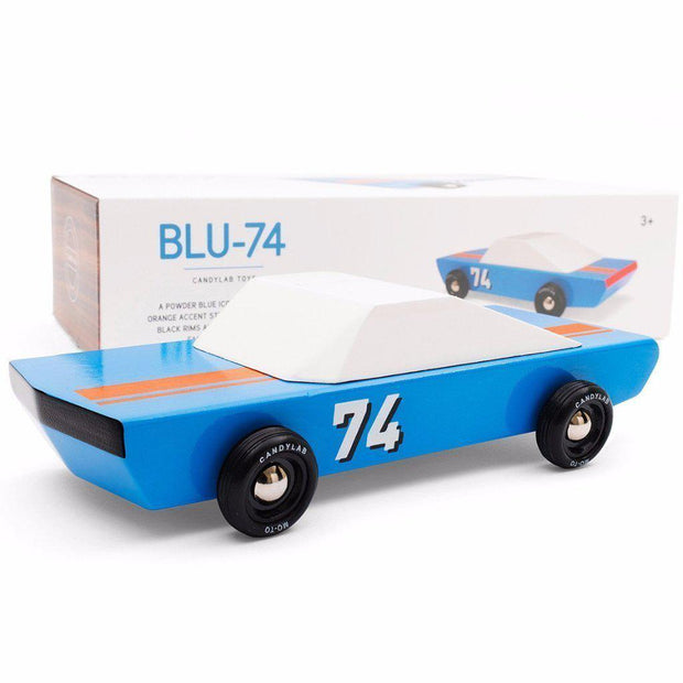 Blu74 Racer Toy Car-Toys-Candylab-OPUS Design