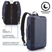 Bobby - Bizz Blue Anti-Theft Backpack