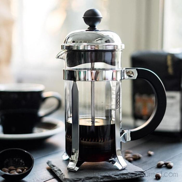 Bodum - Chambord French Press Coffee Maker: Stainless Steel 3 Cup