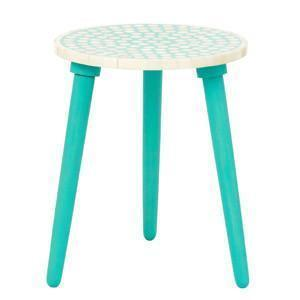 Bone Inlay Polka Dot Table-Side Tables-Ruby Star Traders-Spearmint-OPUS Design