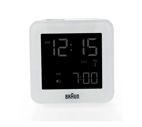 Braun Digital Clock (Bnc009) - White-Alarm Clocks-Braun-OPUS Design