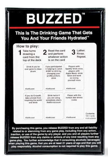 Buzzed Card Game (Hydrated Edition)