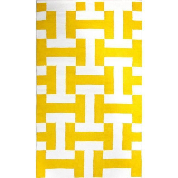 Canal Yellow Recycled Cotton Rug-Rugs-Fab Habitat-120 x 180cm-OPUS Design