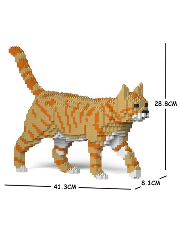 Jekca Building Blocks - Orange Tabby Cat