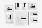Corban & Blair Kauri Wall Of Frames Set 8-Frames-Corban & Blair-Black-OPUS Design
