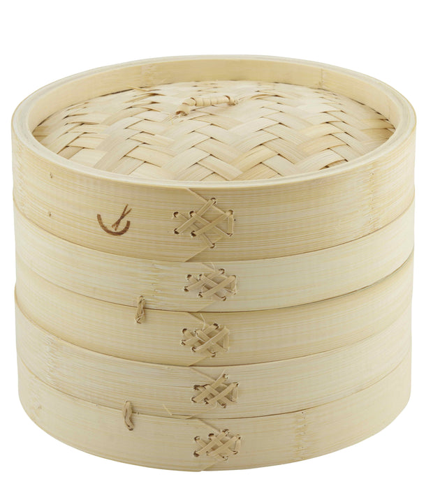 Two Tier Bamboo Steamer - 20cm