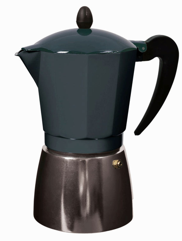 Leaf + Bean - Stove Top Espresso Maker: Coal 9 Cup