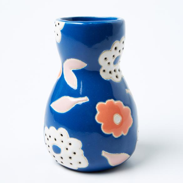Jones & Co - Saturday Vase Blue Floral