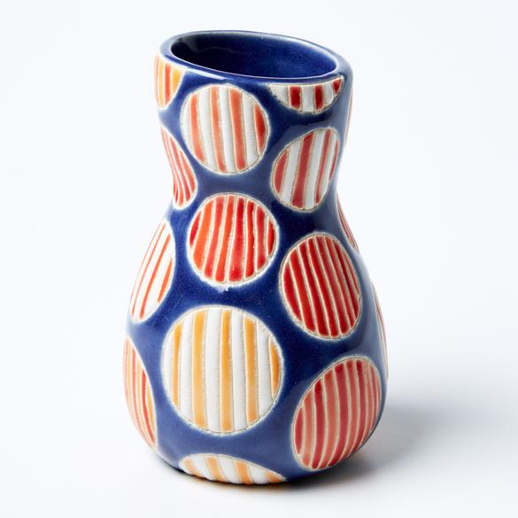 Jones & Co - Saturday Vase Orange Spot