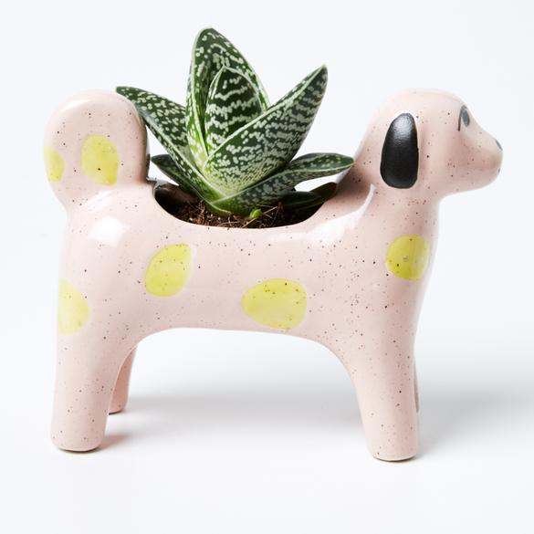 Jones & Co - Morris Dog Planter - Pink
