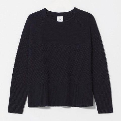 Elk Solace Jaffle Sweater - Black-Tops-Elk-8-OPUS Design