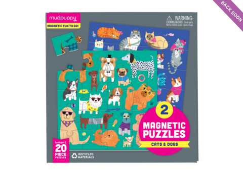 Mudpuppy - Magnetic Puzzle Cats & Dogs
