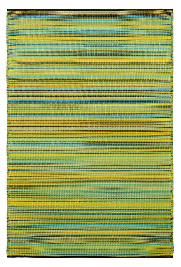 Plastic Rug Cancun Lemon And Apple Green