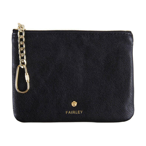 Fairley Leather Coin Purse-Wallets & Purses-Fairley-Jet Black-OPUS Design