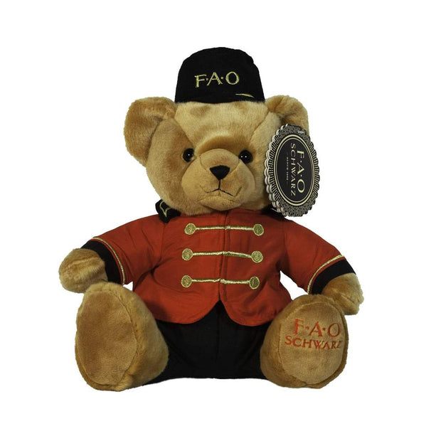 FAO Schwarz - Plush Bear Soldier 15 Inches