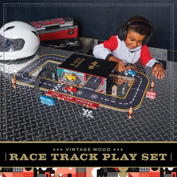 FAO Schwarz - Toy Play Set with Carrier Race Track