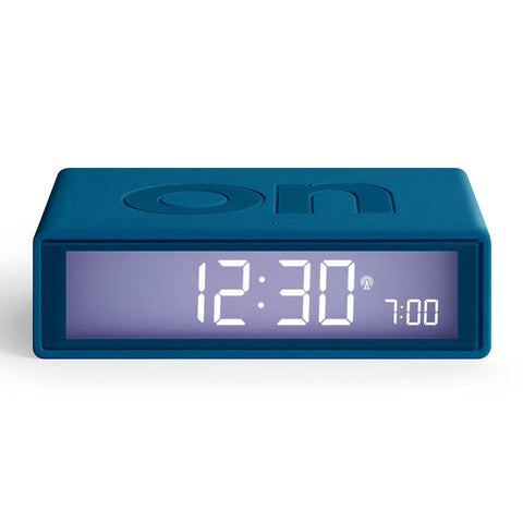 Lexon - Flip Duck Blue Alarm Clock