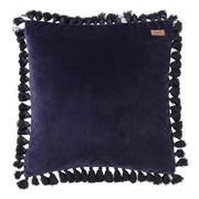 Kip & Co - Navy Velvet Tassel Cushion Cover