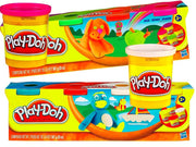 Playdoh 4 Tub Packs Assorted