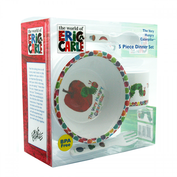 The Very Hungry Caterpillar 5pc Dinner Set