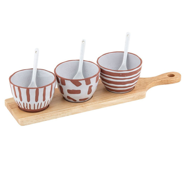 Davis & Waddell - Zambia Serving Set on Paddle