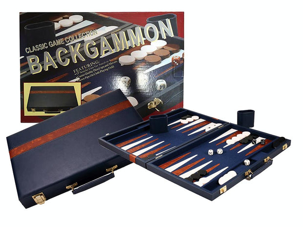 "Backgammon - 15"" Blue Vinyl"