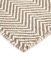Herringbone Beige Indoor Outdoor Rug