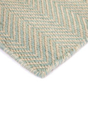 Herringbone Sky Blue Indoor Outdoor Rug
