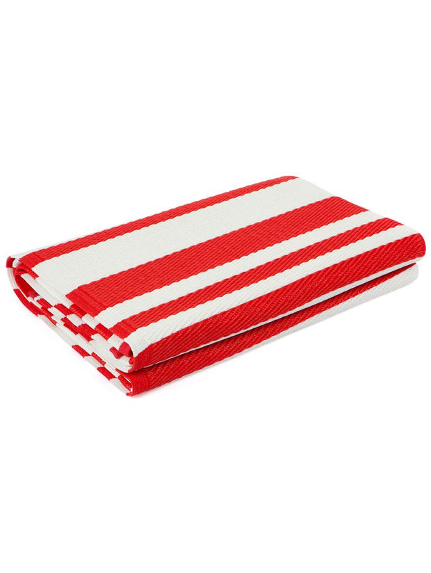 Cherai Bright Red Recycled Plastic Rug