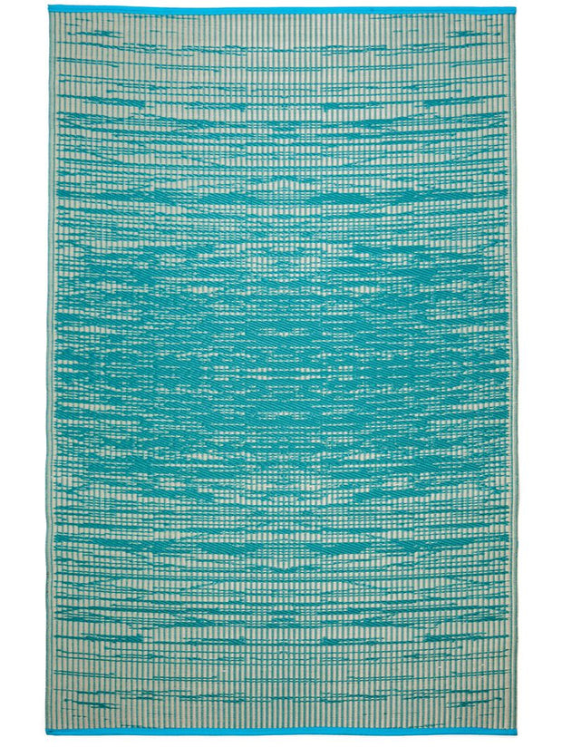 Brooklyn Teal Recycled Plastic Rug