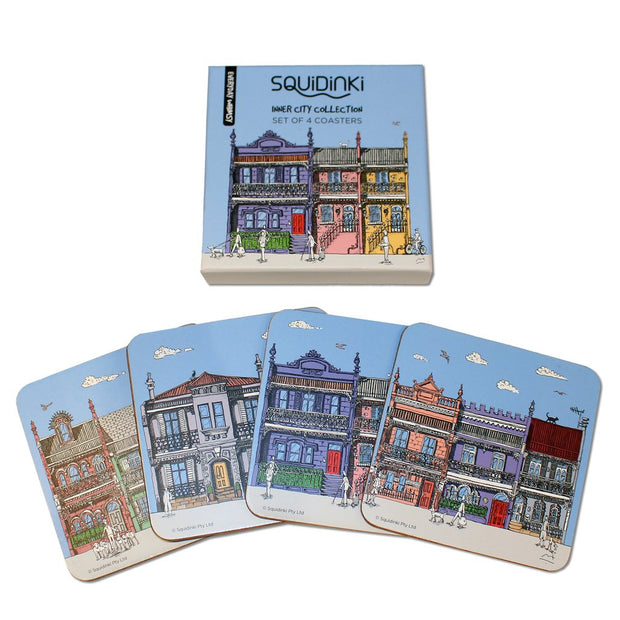 Squidinki - Inner City Coasters (Set of 4)