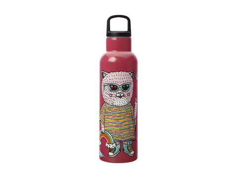 Maxwell & Williams x Mulga the Artist - Insulated Bottle 600ml Cat