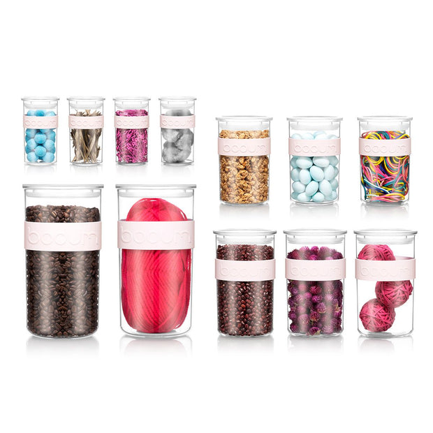 Bodum - Presso Food Storage 12 Piece Set - Strawberry
