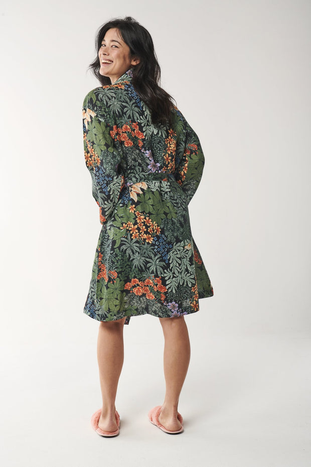 Kip & Co - Linen Bathrobe - Atrium