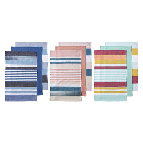 Ladelle - Connor Assorted 3pk Kitchen Towel - Blue