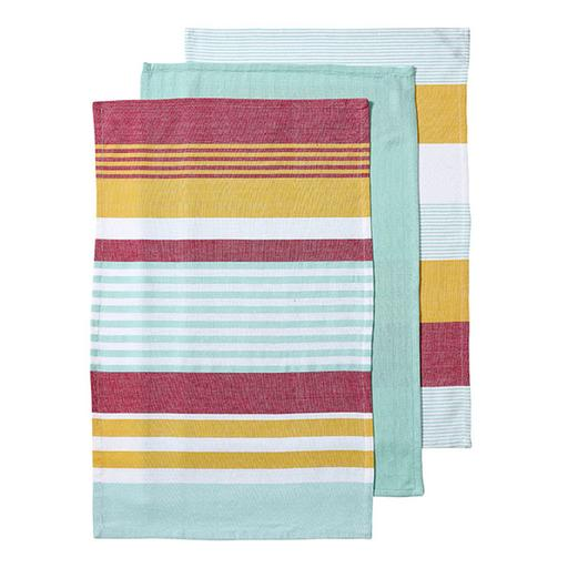 Ladelle - Connor Assorted 3pk Kitchen Towel - Tropical