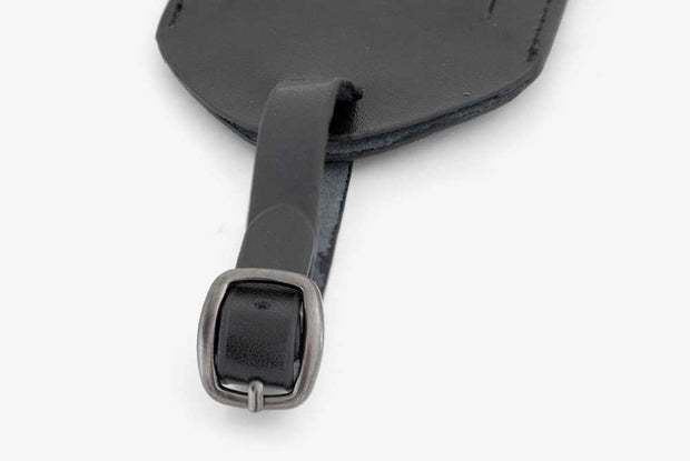 Corban & Blair - Leather Luggage Tag - Black