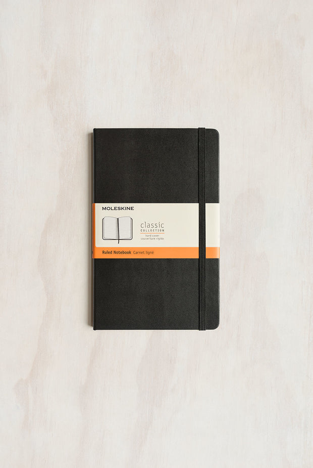Moleskine - Classic Hard Cover Notebook - Ruled - Large Black