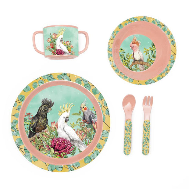 La La Land Cockatoos Children's Melamine Set