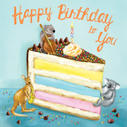 Musical Birthday Critters - Birthday Card