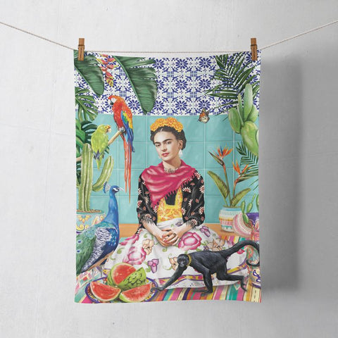 La La Land Frida's Paradise Tea Towel