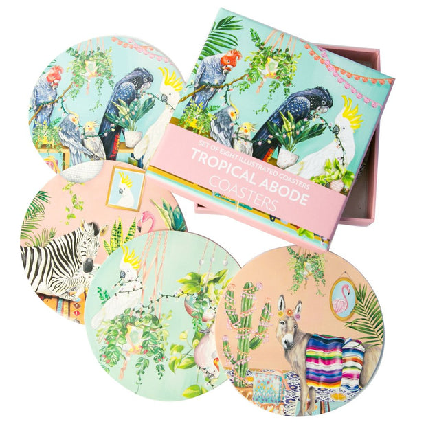 La La Land - Tropical Abode Coasters