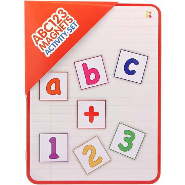 ABC123 Magnets Activity Tin Set