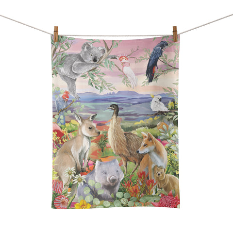 La La Land - Tea Towel Nature Dwellings