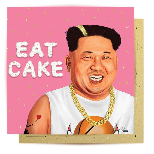 Eat Cake Kim - Birthday Card
